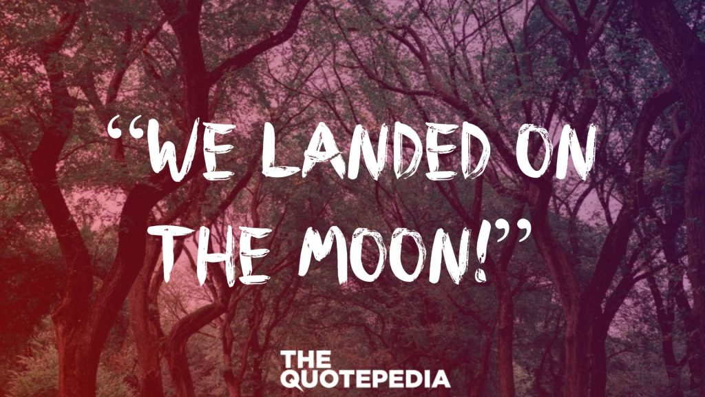 """We landed on the moon!"""